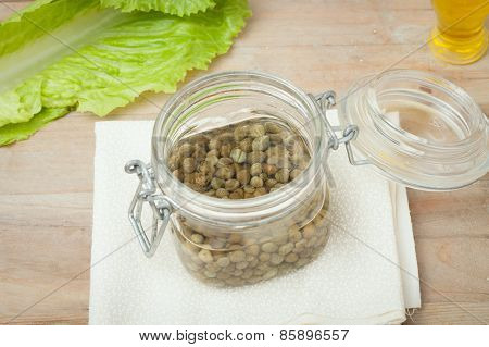 Capers In Glass Jar