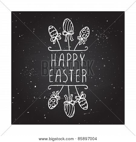 Hand-sketched easter typographic element