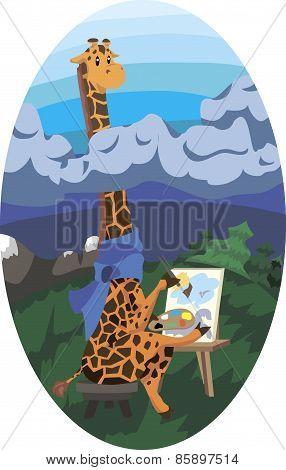 Giraffe Artist