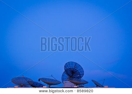 Group Of Satellite Antenna