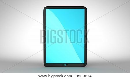 Tablet Pc With Blue Colored Screen