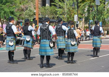 Pasadena Scots Pipes & Drums Band At The Norooz Festival And Persia