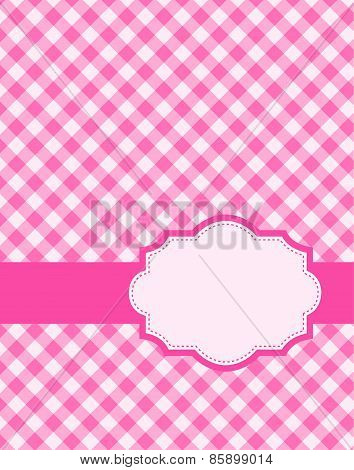 Gingham Pattern With Frame