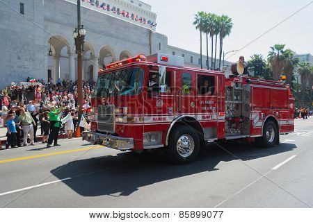 Fire Truck At The Norooz Festival And Persian Parade