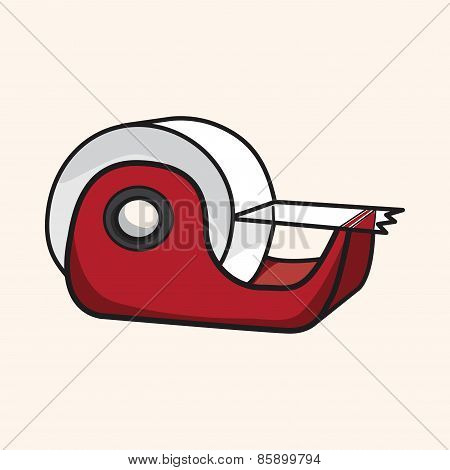 Stationary Tape Dispenser Theme Elements Vector,eps