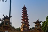 picture of trans  - Buddhist Tran Quoc Pagoda in Hanoi vietnam - JPG