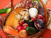 foto of root vegetables  - Root vegetables suitable for carving shot from above - JPG