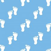 pic of webbed feet white  - Tracks blue with white seamless pattern for web design - JPG