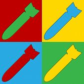 picture of bombshell  - Pop art bomb symbol icons - JPG