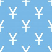 stock photo of yen  - Yen blue with white seamless pattern for web design - JPG