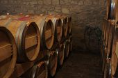 picture of basement  - Storage of wine in the basement of a vinard - JPG