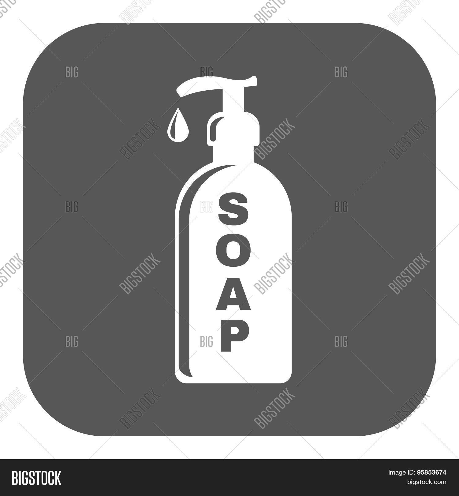Liquid soap icon hand wash symbol vector photo bigstock hand wash symbol flat buycottarizona Image collections
