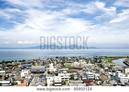 Shimabara city and sea