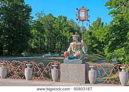Tsarskoye Selo (Pushkin). Saint-Petersburg, Russia. The Large Chinese Bridge