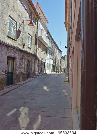 Old street near Guarda Cathedral