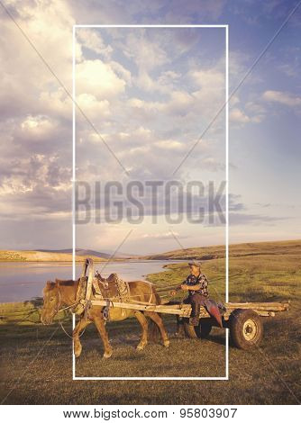 Mongolian Culture Countryside Scenic Travel Concept