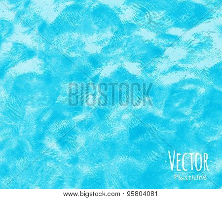 Plasticine background blue
