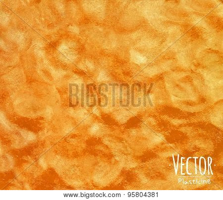 Plasticine background orange