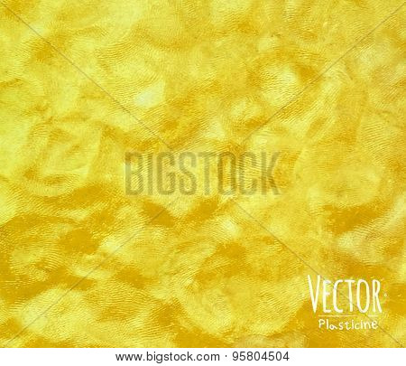 Plasticine background yellow