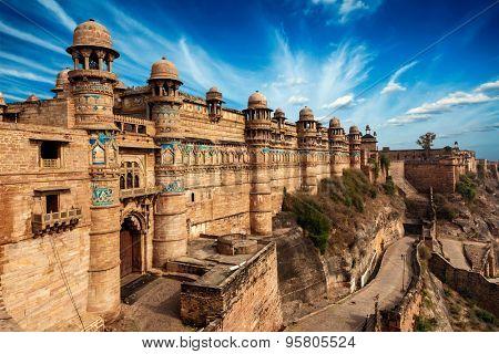 Gwalior fort. Gwalior, Madhya Pradesh, India
