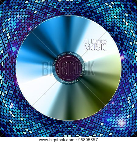 Disco Abstract Background. Record Or Disk