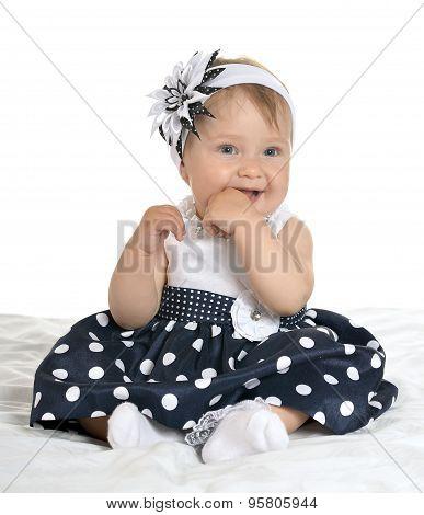 Beautiful  baby in cute dress