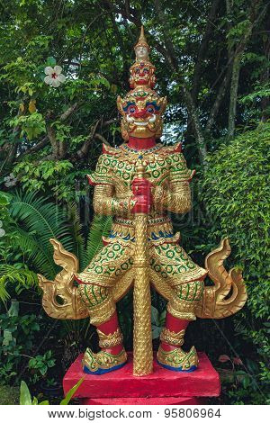 Red Giant Statue