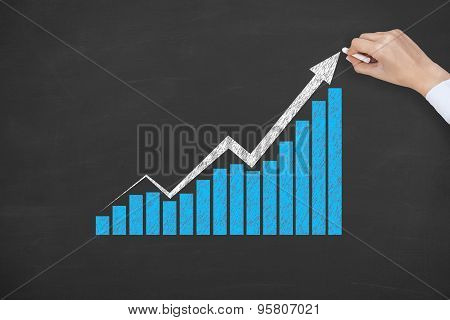 Success Graph on Blackboard Blue