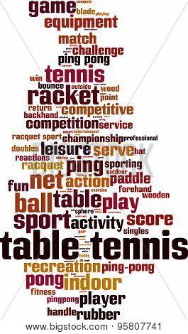 Table Tennis Word Cloud