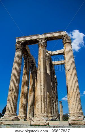 Ancient Temple Of Olympian Zeus , Athens, Greece