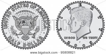 Metal Coins - Half Dollar
