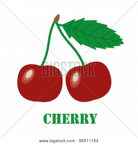 Cherries Isolated Object Vector