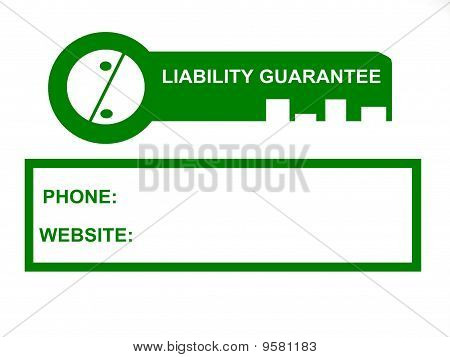 0% Liability Bank Guarantee Business Sign