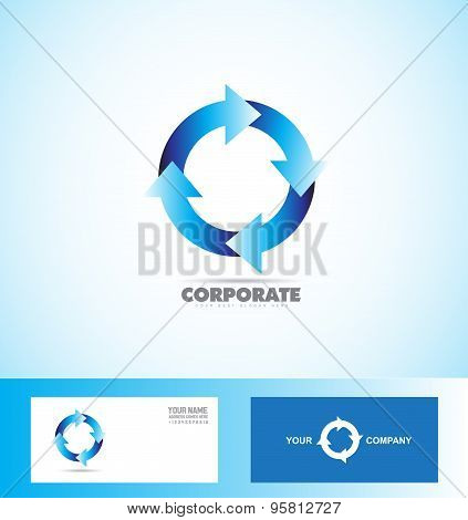 Corporate Arrow Circle Logo Loop Seamless