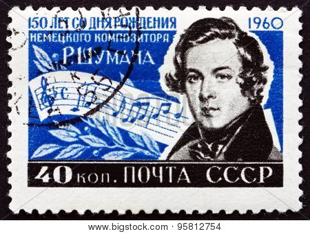 Postage Stamp Russia 1960 Robert Schumann, German Composer
