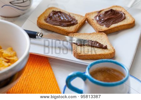 Breakfast With Coffee And Chocolate
