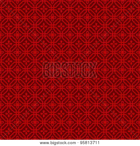 Seamless Chinese window tracery polygon flower pattern background.