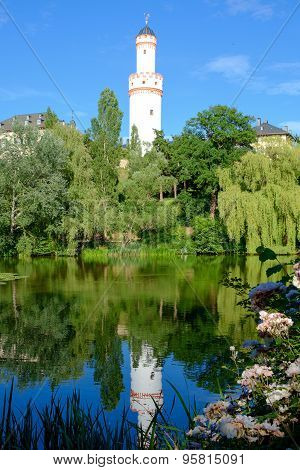 Watchtower Reflecting In The Pond