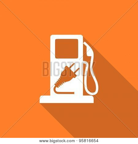 fuel flat design modern icon with long shadow for web and mobile app