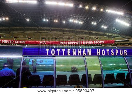 May 27, 2015 - Shah Alam, Malaysia: Tottenham Hotspur play the Malaysia in a friendly match at the Shah Alam Stadium. The English Premier League football club is on their Asia-Australia tour.