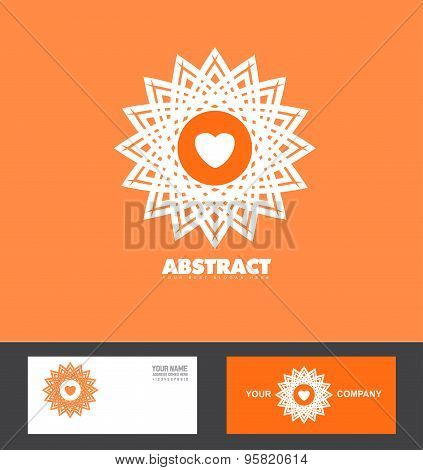 Abstract Orange Flower Logo Icon