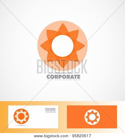 Corporate Orange Flower Logo Icon