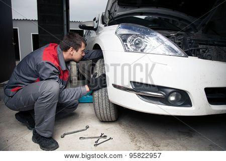 Car mechanic. Auto repair service.