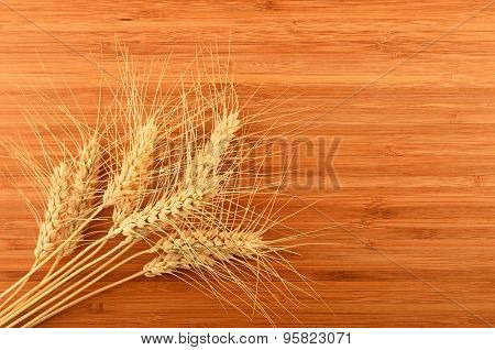 Wooden Bamboo Cutting Board With Nine Wheat Ears