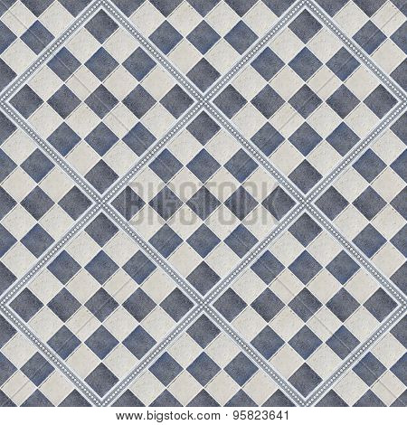 seamless rhomboid shape tiles of blue and gray color