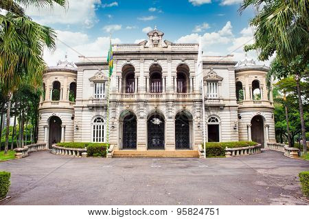 BELO HORIZONTE , BRAZIL-APRIL 22, 2015: Palace of Liberty , building which was for several years the office of the government of Minas Gerais state in the city of Belo Horizonte, Brazil.