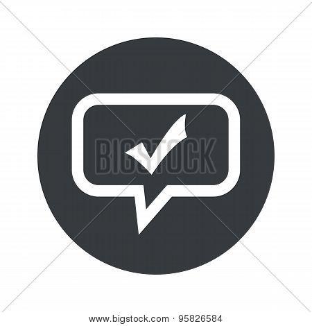 Round tick mark dialog icon