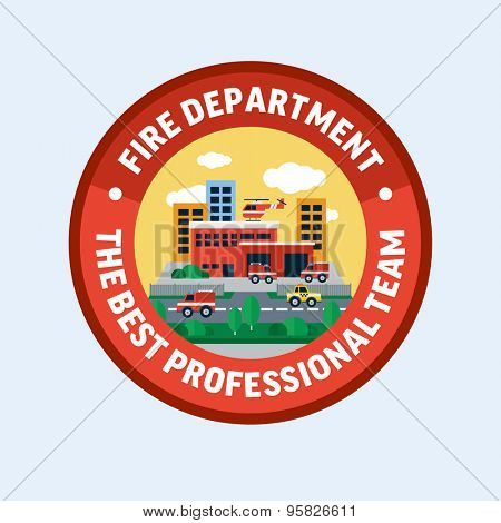 Fire department. Flat design vector