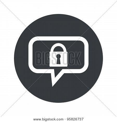 Round locked dialog icon
