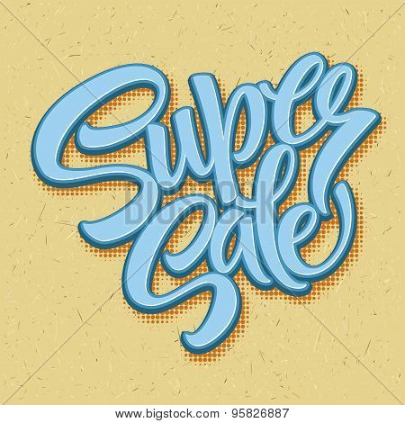 Super sale tag banner. Vector illustration